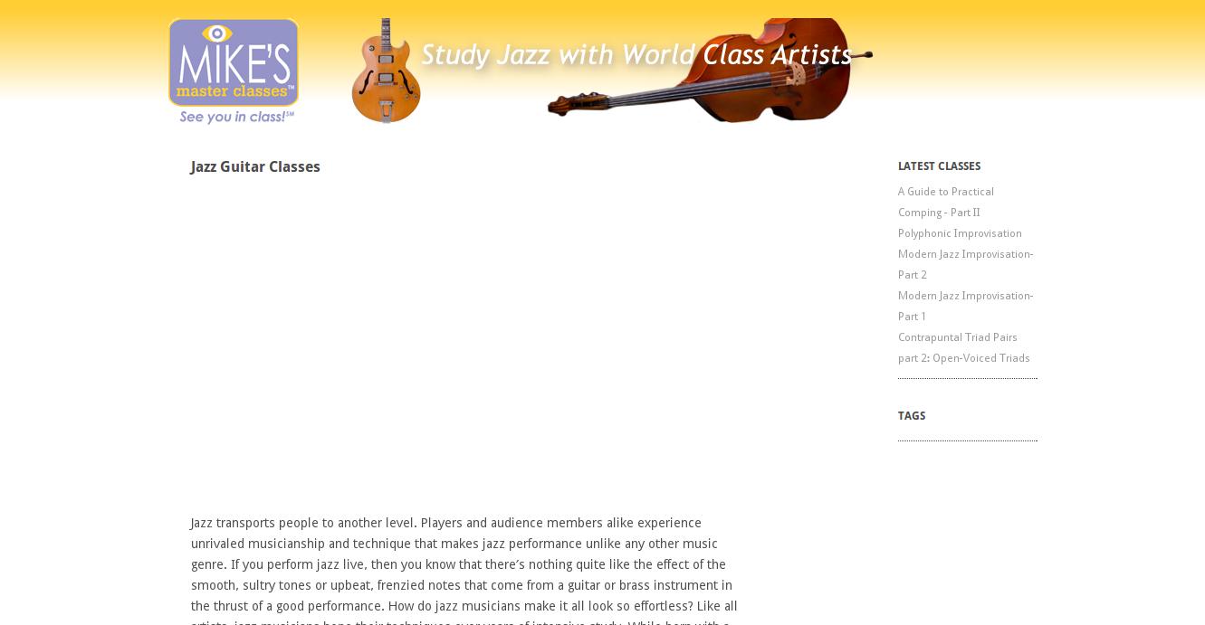 Jazzguitar mikesmasterclasses