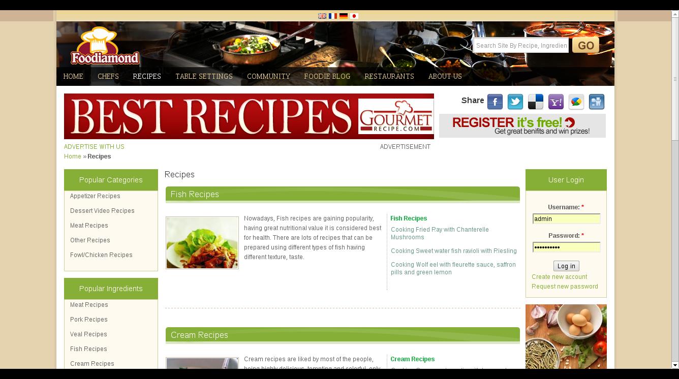 Foodiamond -Video recipes